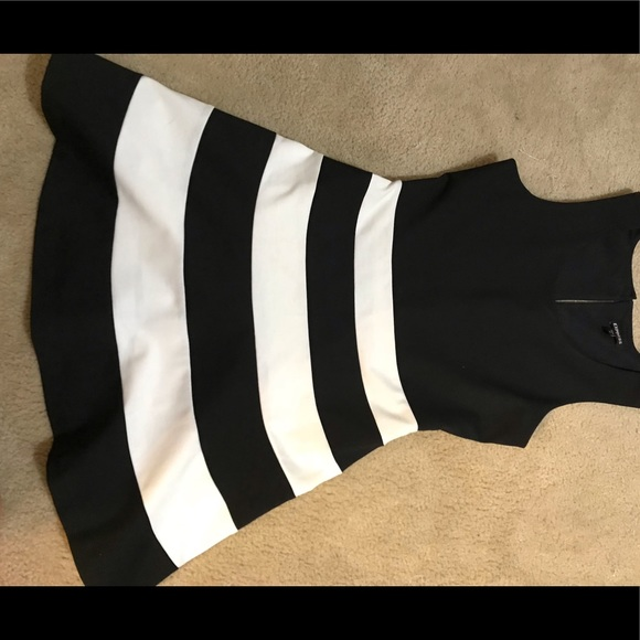 Express Dresses & Skirts - Black and white striped express dress